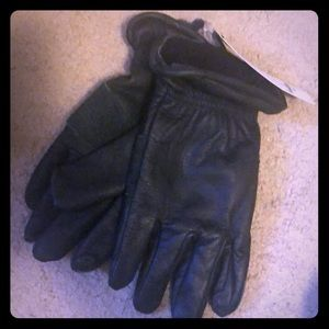 Size L/XL Green Leather Gloves